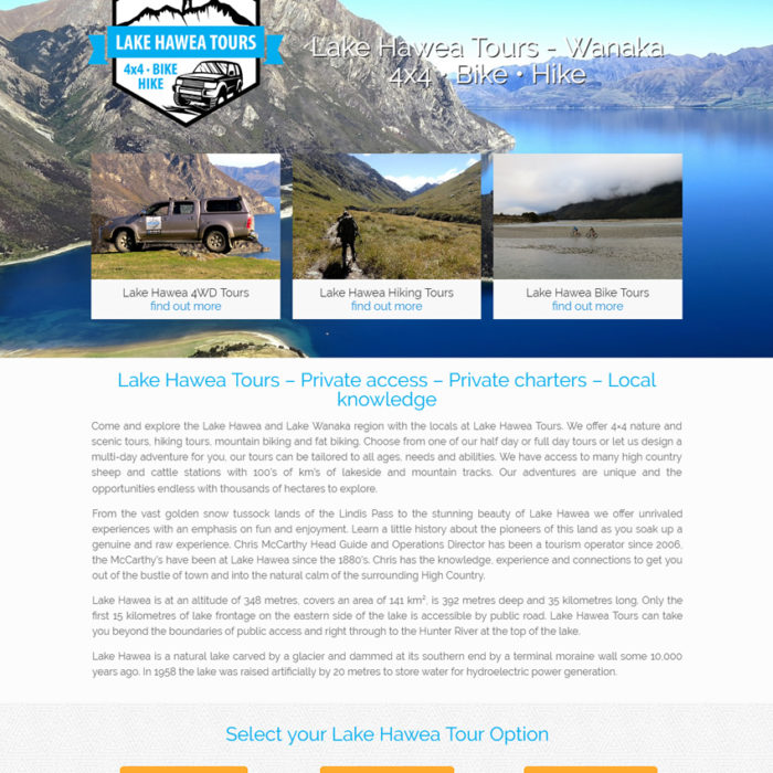 Lake Hawea Tours